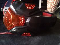 Casti audio de gaming cu microfon iluminate in rosu -noi Pol