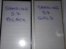 Samsung S7 folie sticla full black / gold