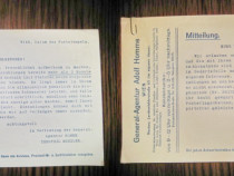 Act vechi Comunicare Mittelung Gen. Ag. Adolf Homme anii 40