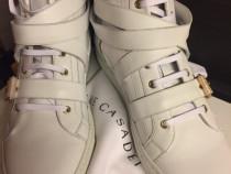 Hi-top Sneakers Cesare Casadei double strap,moon white,produ