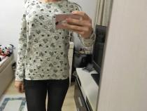 Pulovar bluza c and a, alb cu negru, xa, noua cu eticheta