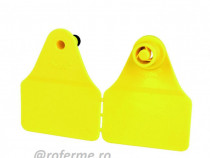 Crotalii marcare – liber fara marcaj, galben, 44 x 54 mm