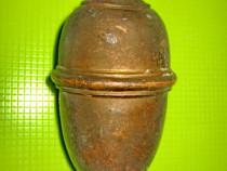 8577-Greutate bronz veche lungime 16 cm, 1.2 kg.
