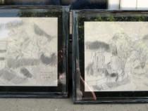 Val Gheorghiu 1988 - 2 tablouri Peisaje din Vatra Moldovitei