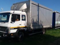 Tandem camion mercedes benz 1117 cu remorca