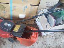 Masina tuns gazon electric 4 roti cos depozitare
