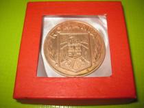 9214-Medalia Banca Agricola bronz-1873-1993, diam. 5.5 cm.
