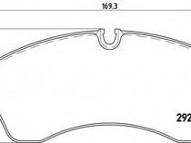 Set placute frana,frana disc P50059 MERCEDES-BENZ SPRINTER 5