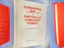 Congresul al 13 lea PCR- 1985.