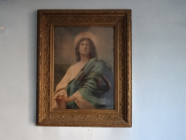 Icoana veche pictata pe panza