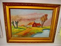 Peisaj vechi Olanda semnat Vanwel anii 1900-20 ulei pe panza