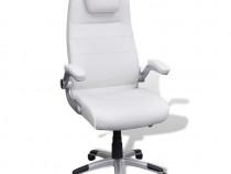 Scaun birou rotativ și reglabil din piele artificială(20090)