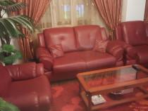 Canapea cu fotolii piele ecologică