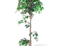 Ficus artificial cu aspect natural și ghiveci(241361)