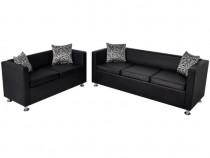 Set canapele 3 locuri și 2 locuri, piele arti(272178)