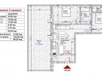 Dezvoltator 3 camere Penthouse 74mp terasa 50mp Turnisor