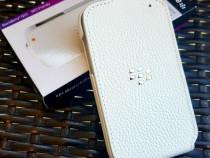 Toc,Husa Flip cover piele ORIGINALA pt Blackberry Q10 Noua