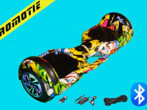 Hoverboard Papper Electric 1000w LED-uri Bluetooth TELECOMAN