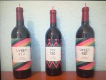 Lumânare în formă şi dimensiuni ale unei sticle de vin