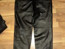Pantaloni clasici din piele naturala (piele moale,fina) 50