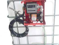 Bazin IBC 1000 litri cu pompa  motorina cu tva si transport