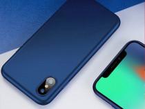 Iphone X XS 10 XR XS MAX - Husa Slim Silicon Neagra Albastra