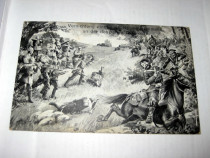 Ww1-Militari germani distrugand patrula ruso-kazaca la gran.