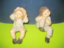 2 Statuiete Goebel Limpke Nina & Marco portelan anii 50-60.