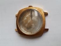 Carcasa ceas mecanic placata in aur