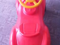Masina de impins Porsche rosie+Masina Gunoi Cu Pompa De Aer