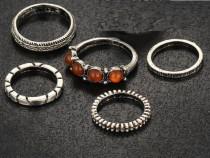 5 inele argint tibetan verigheta indian oriental india