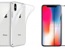 Iphone X XS 10 XR XS MAX Pachet Husa Silicon Folie Sticla