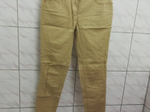 Pantaloni dama bumbac bej H&M marimea 38 / M - Noi
