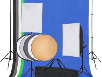 Kit studio foto: 5 fundaluri colorate și 2(190207)