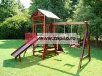 Complex de joaca pentru copii din lemn - mahon nou la comand