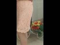 Rochie dantela roz pal