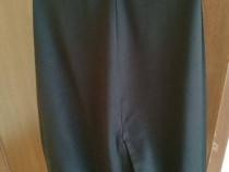 Pantaloni eleganți bărbați slim fit culoare negru mărime 56