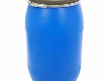 Butoi plastic 150 L cu cerc metalic