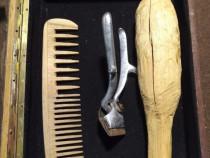 Cutie decor hairstylist-frizer sau logo