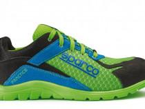Pantofi protectie S1P,SPARCO,Practice,verde cu albastru,usor
