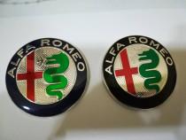 Embleme capotă/portbagaj set Alfa Romeo diametrul de 74 mm