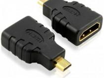 Adaptor HDMI mama - Micro Hdmi tata, Negru