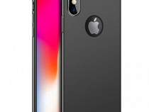 Husa Telefon Plastic Apple iPhone X XS Black Matte NOU