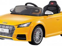 Masinuta electrica cu telecomanda pentru copii, galben, Audi