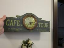 """""""Cafe de la Tour"""" Paris-reclama lemn, cu Ceas Vintage-cadou"""