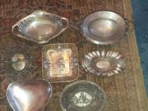 Obiecte de arta din argint masiv antice tavi,fructiere,