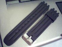 Curea swatch neagra silicon de 17mm,19 mm,21mm, 23mm,latime.