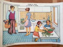 Afis / poster vechi perioada comunista - Familia mea