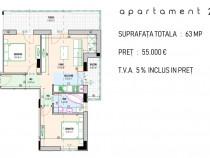 Apartament 3 camere cu terasa 17 mp Diamantului Residence