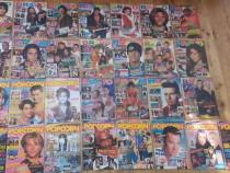 Colectie reviste vechi POPCORN si BRAVO anii 1993-'96-muzica